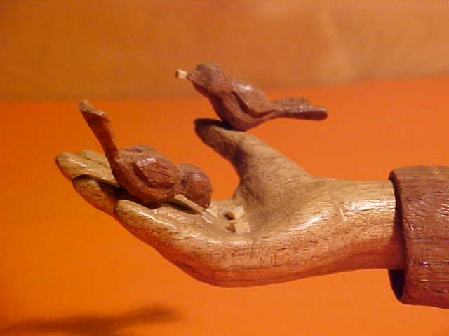 Oiseaux sur la main